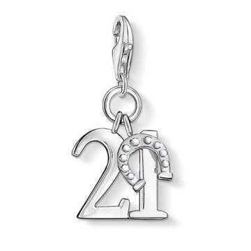"Thomas Sabo ""lucky number 21"" charm 0460-001-12"