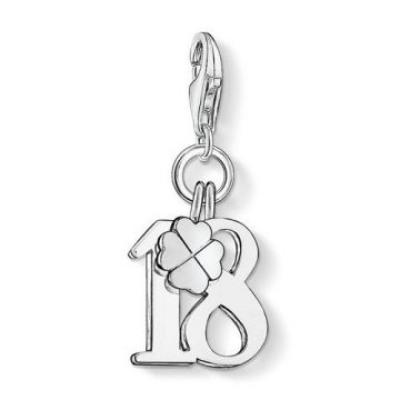 """Thomas Sabo """"lucky number 18"""" charm 0473-001-12"""