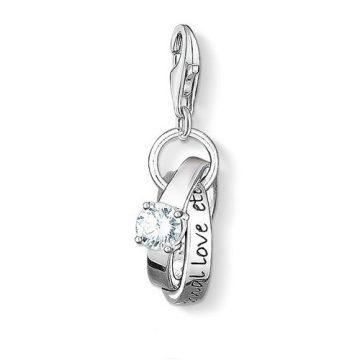 """Thomas Sabo """"wedding rings"""" charm 0673-051-14"""