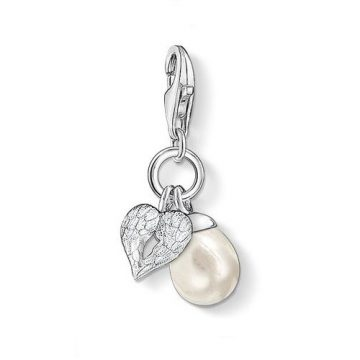 """Thomas Sabo """"wing with pearl"""" charm 0779-082-14"""