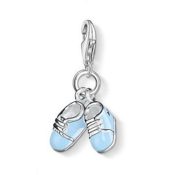 "Thomas Sabo ""blue baby shoes"" charm 0822-007-1"