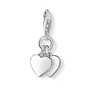 "Thomas Sabo ""two hearts"" charm 0836-001-12"