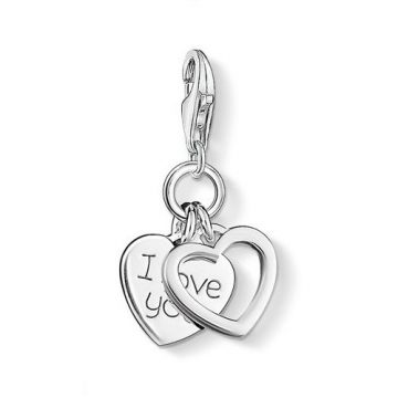 "Thomas Sabo ""i love you hearts"" charm 0852-001-12"