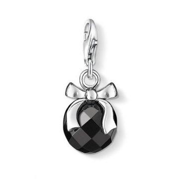 """Thomas Sabo """"obsidian stone with bow"""" charm 0868-023-11"""