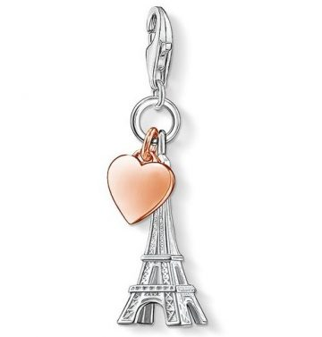 "Thomas Sabo ""eiffel tower with heart"" charm 0904-415-12"