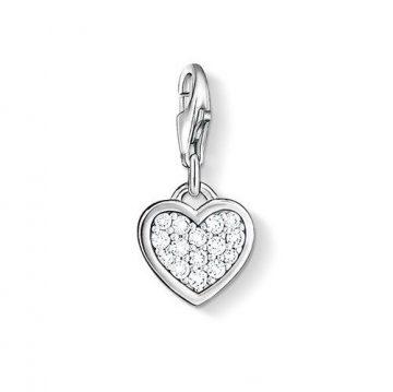 "Thomas Sabo ""glitter heart"" charm 0967-051-14"