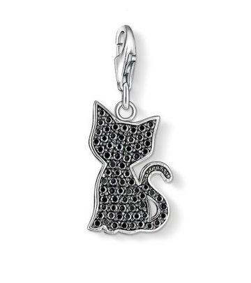 "Thomas Sabo ""black cat"" charm 1015-051-11"