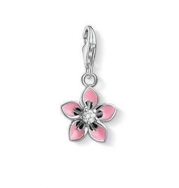 "Thomas Sabo ""pink flower"" charm 1354-041-9"