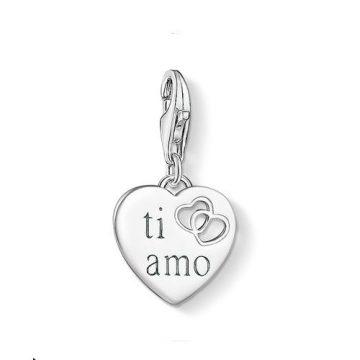 """Thomas Sabo """"ti amo heart"""" charm 1406-001-12"""