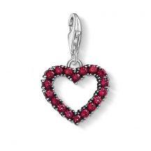"Thomas Sabo ""Vörös köves szív"" charm 1476-639-10"