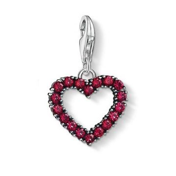 """Thomas Sabo """"heart with hot pink stones"""" charm 1476-639-10"""
