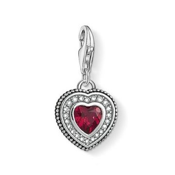 "Thomas Sabo ""heart with red stone"" charm 1478-640-10"