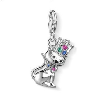 """Thomas Sabo """"cat with crown"""" charm 1486-338-7"""