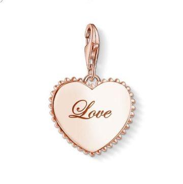 """Thomas Sabo """"heart love rose"""" charm 1502-415-40"""