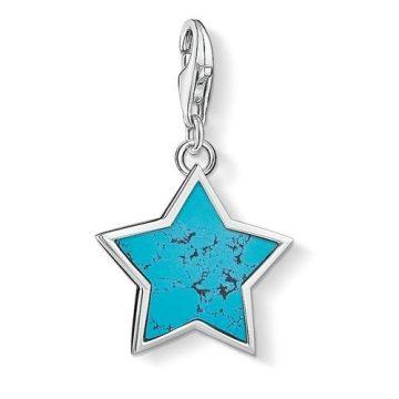 """Thomas Sabo """"turquoise star"""" charm 1532-404-17"""
