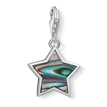 """Thomas Sabo """"mother-of-pearl turquoise star"""" charm 1533-509-7"""