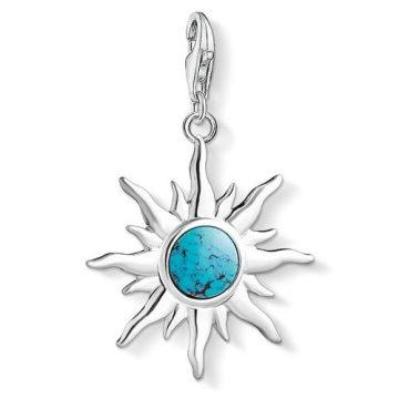 """Thomas Sabo """"sun with turquoise stone"""" charm 1535-404-17"""