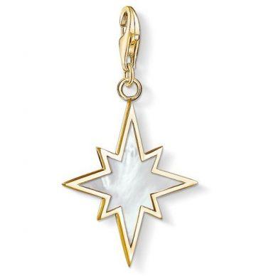 """Thomas Sabo """"Arany Színű Csillag Gyöngyházzal"""" Charm 1539-429-14"""