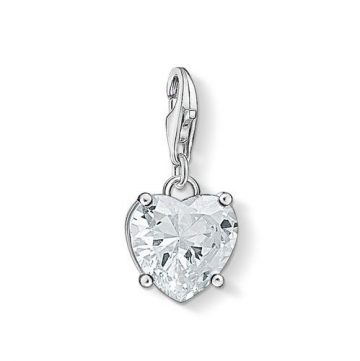 "Thomas Sabo ""heart with white stone"" charm 1567-051-14"