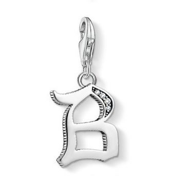 "Thomas Sabo ""letter b silver"" charm 1582-643-21"