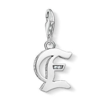 "Thomas Sabo ""letter e silver"" charm 1585-643-21"