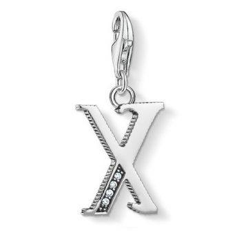 "Thomas Sabo ""letter x silver"" charm 1604-643-21"