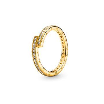 Pandora Shine szikrázó átlapolt gyűrű 169491C01