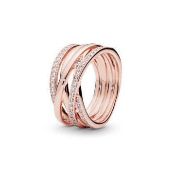 Pandora Rose Összefonódva gyűrű 180919CZ