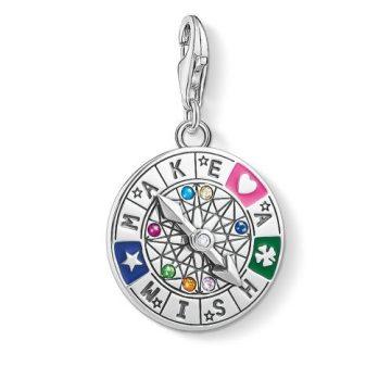 "Thomas Sabo ""wheel of fortune-make a wish"" charm 1818-340-7"