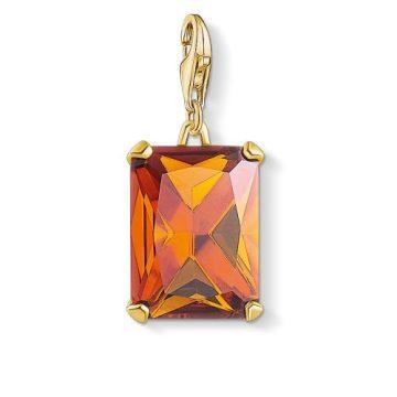 """Thomas Sabo """"orange stone"""" charm 1840-472-8"""