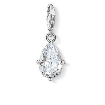 """Thomas Sabo """"white stone droplet"""" charm 1848-051-14"""