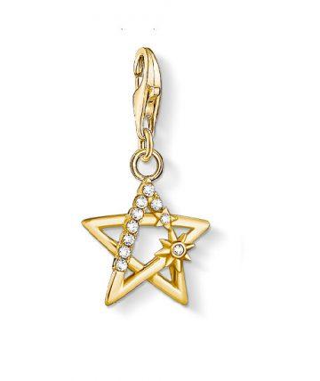 "Thomas Sabo ""star stones gold"" charm 1851-414-14"