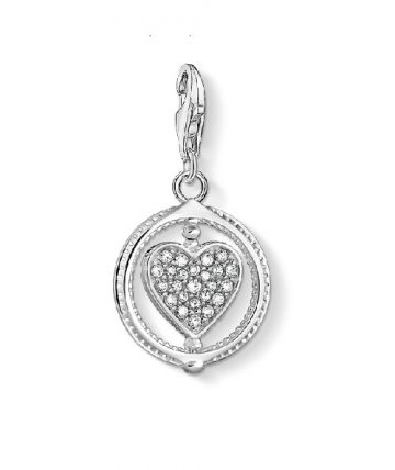 "Thomas Sabo ""heart pavé silver"" charm 1858-051-14"