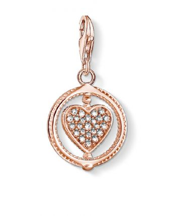"Thomas Sabo ""heart pavé rose"" charm 1859-416-14"