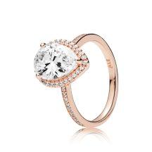 Pandora Rose Ragyogó könnycsepp gyűrű 186251CZ