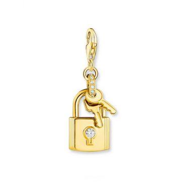 "Thomas Sabo ""gold lock with key"" charm 1876-414-14"