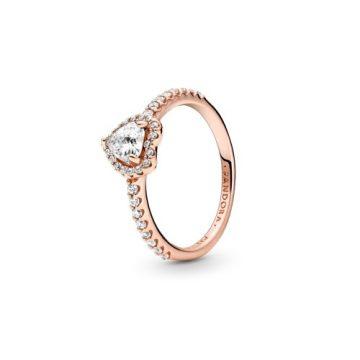 Pandora Rose szikrázó kiemelt szív gyűrű 188421C02