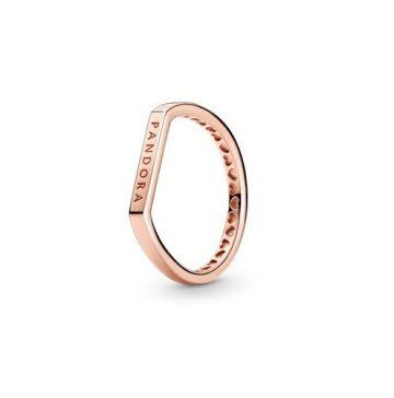 Pandora Rose logós, halmozható gyűrű 189048C00