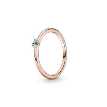 Pandora Rose világoskék szoliter gyűrű 189259C02