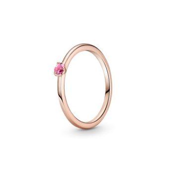 Pandora Rose rózsaszín szoliter gyűrű 189259C03