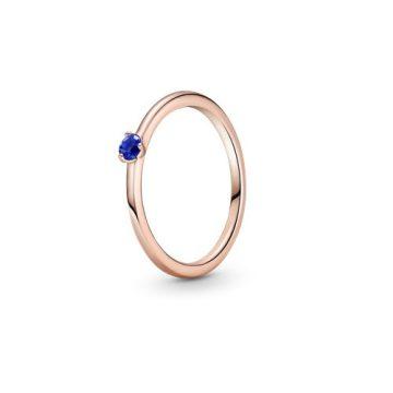 Pandora Rose kék szoliter gyűrű 189259C04