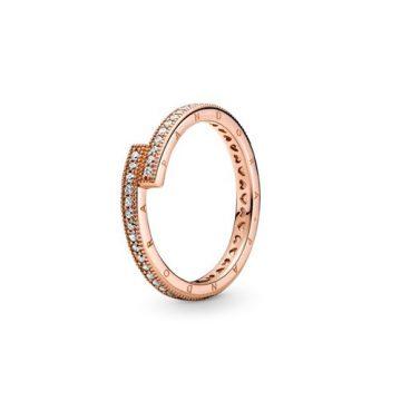 Pandora Rose Szikrázó átlapolt gyűrű 189491C01