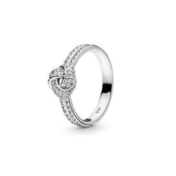 Pandora Szikrázó Szeretetcsomó Gyűrű 190997CZ