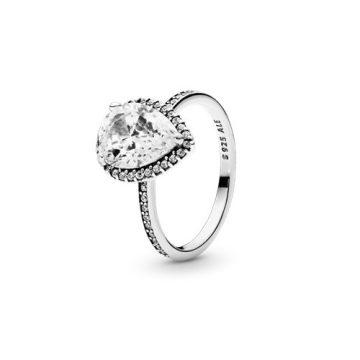Pandora Ragyogó Könnycsepp Gyűrű 196251cz