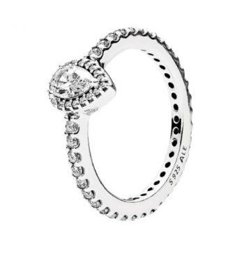 Pandora Ragyogó Könnycsepp Gyűrű 196254CZ