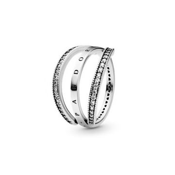 Pandora Szívei visszafordítható gyűrű 197404cz