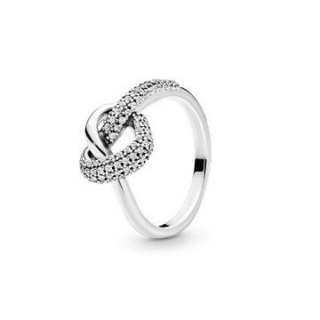 Pandora Összefonódó Szív Gyűrű 198086CZ