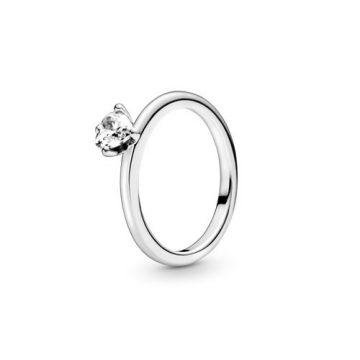 Pandora Áttetsző Szív Szoliter Gyűrű 198691C01