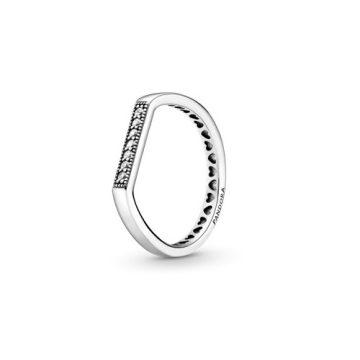 Pandora szikrázó sor halmozható gyűrű 199041C01