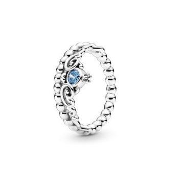 Pandora Disney Hamupipőke kék tiara gyűrű 199191C01
